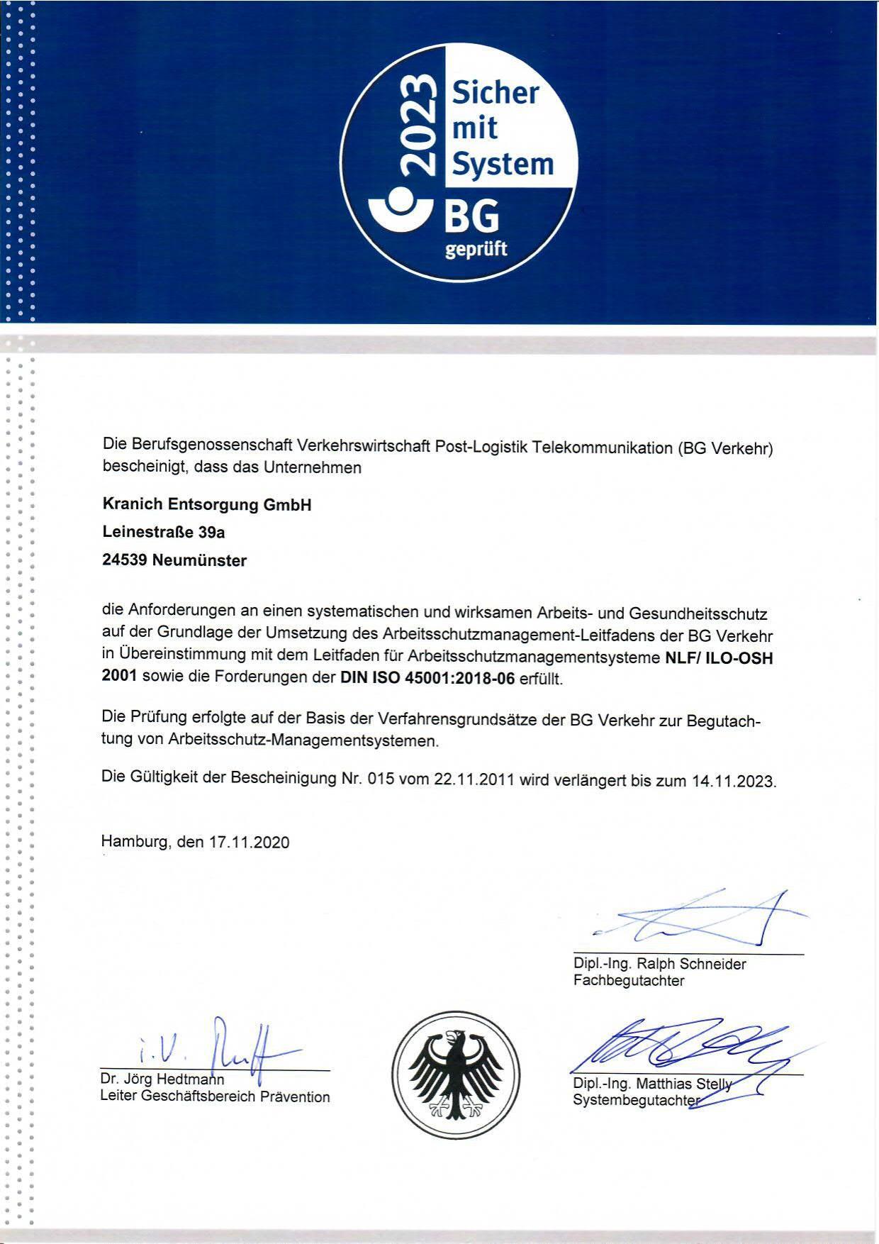 BG-Gütesiegel 2023
