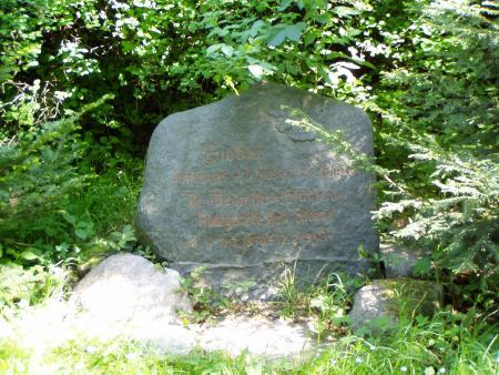 Gedenkstein Wildmeister Johannes Sieber
