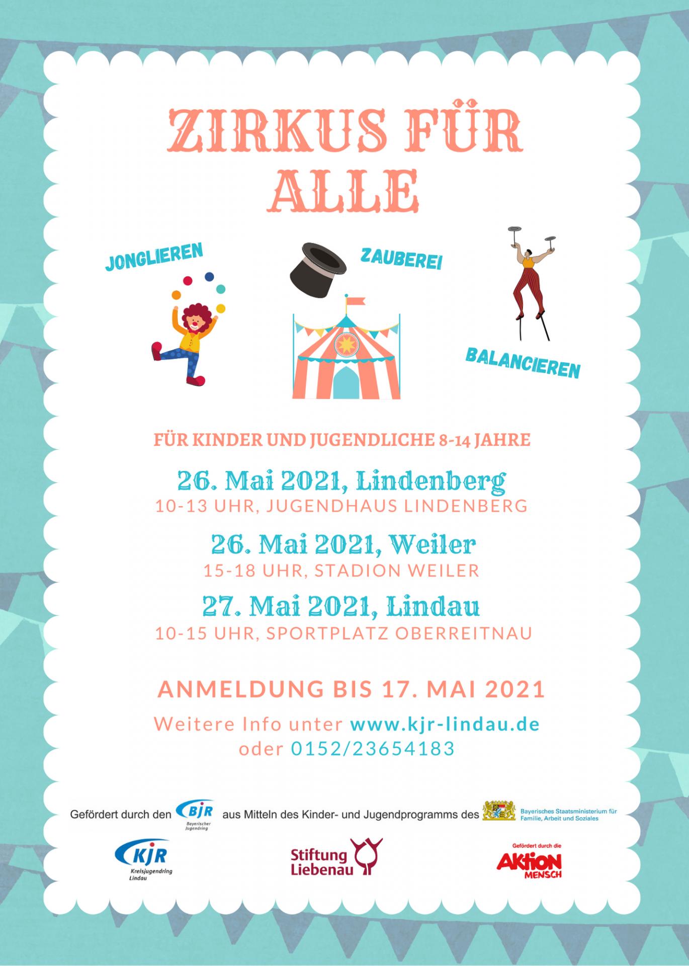 Plakat Zirkusaktion Pfingsten 2021