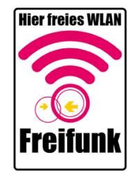 Hier freies W-LAN!