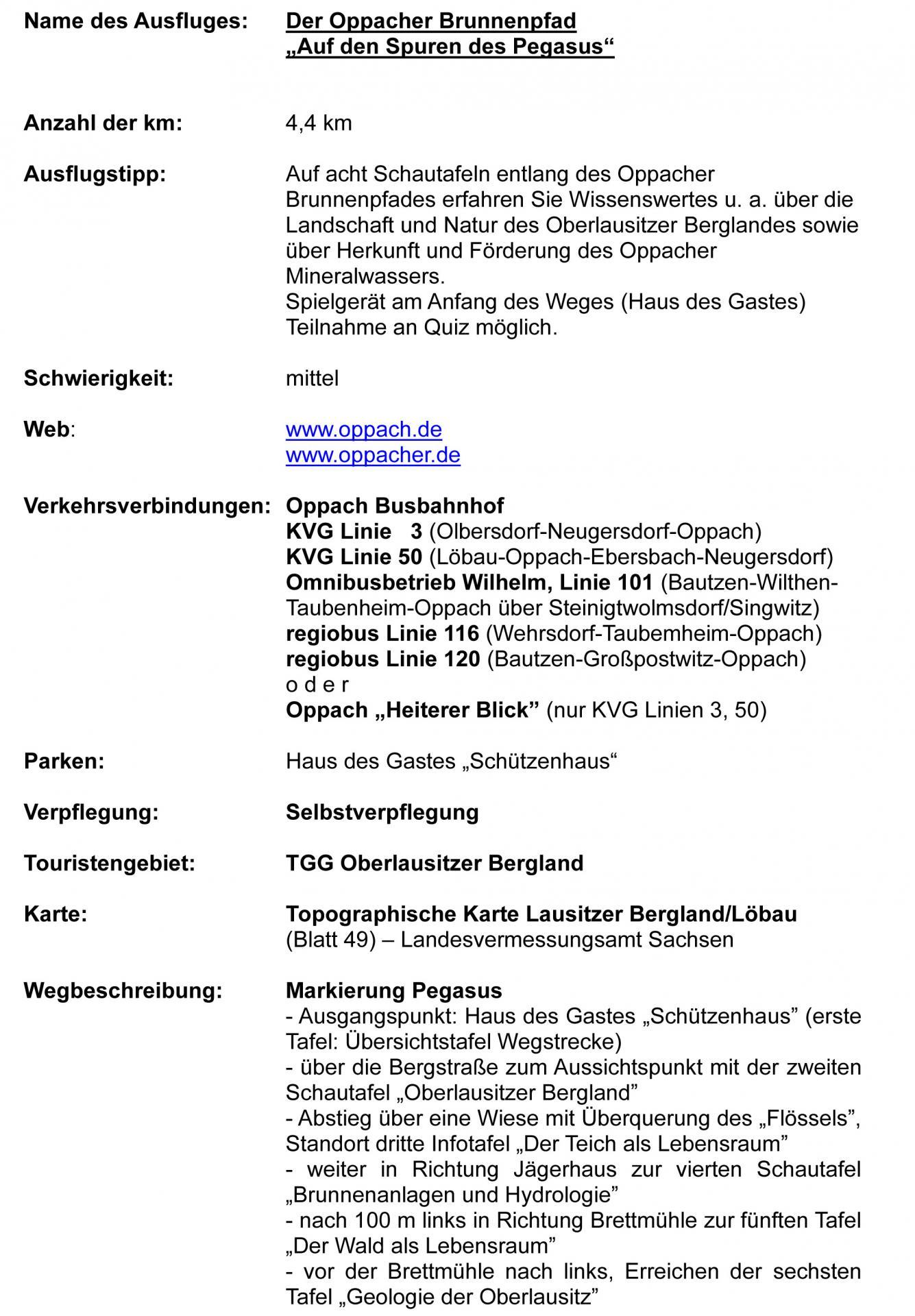 Oppacher Brunnenpfad- Kurzbeschreibung 1