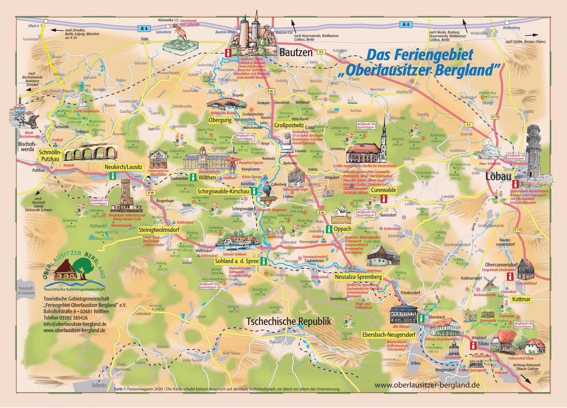 Übersichtskarte OL Bergland