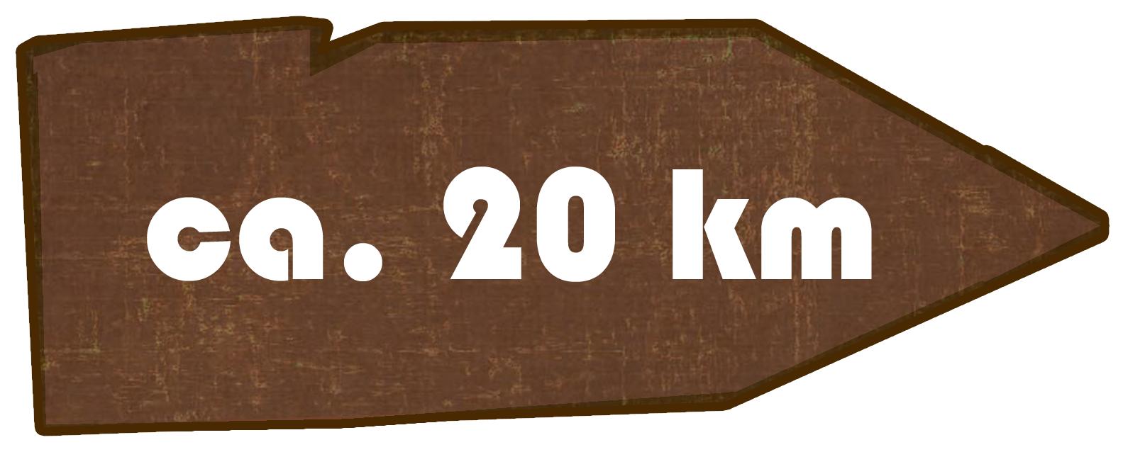 Kilometer Obercunnersdorf - Eibau - Ruppersdorf - Herrenhut - Obercunnersdorf