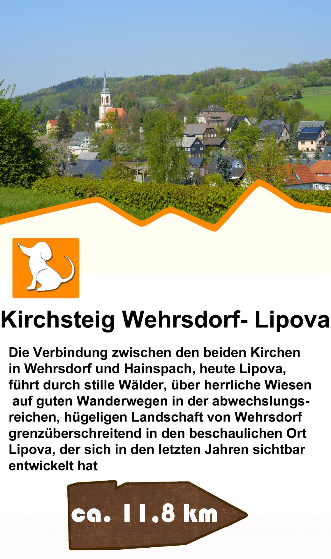 Kirchsteig Wehrsdorf-Lipova
