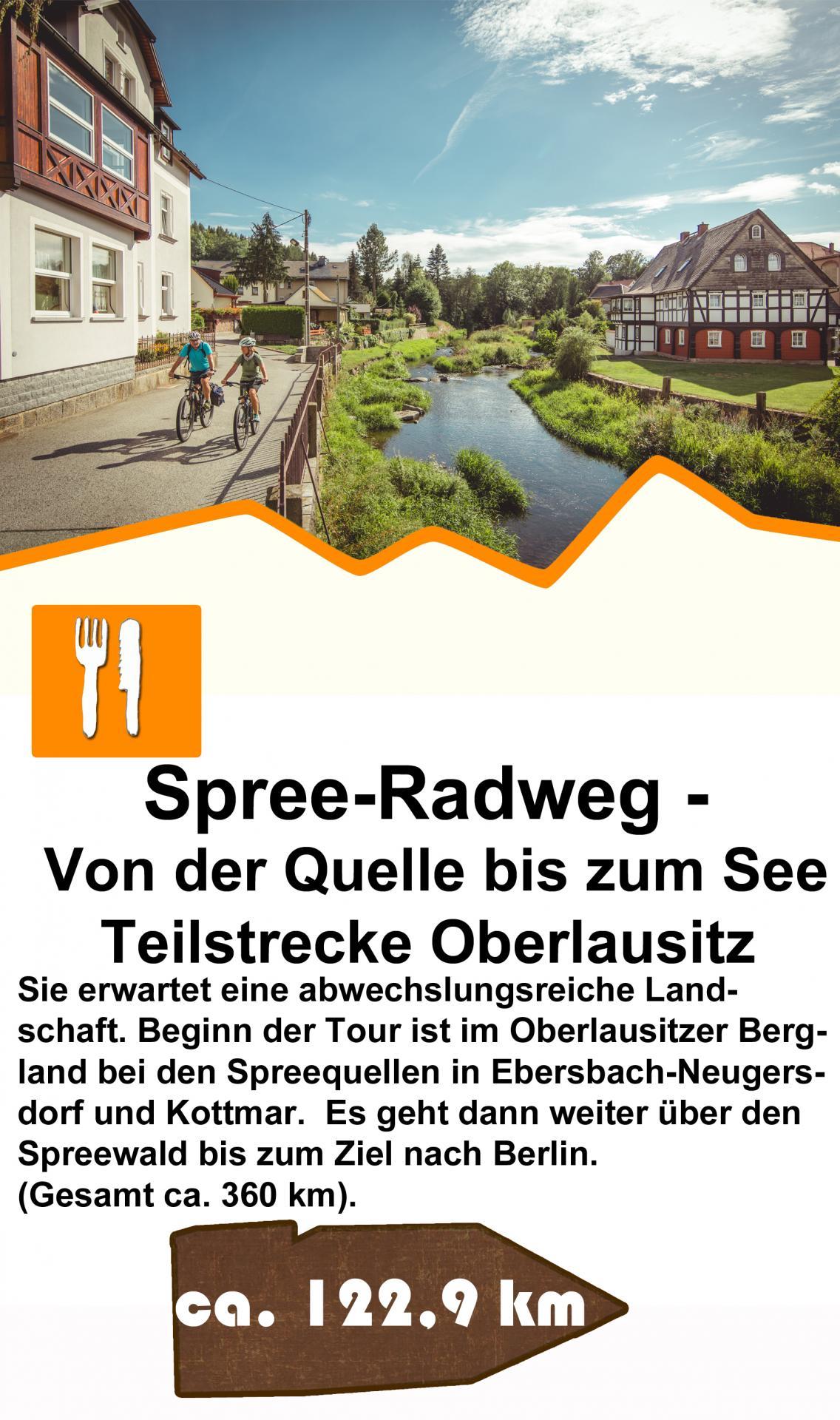 Spreeradweg Teilstrecke Oberlausitz