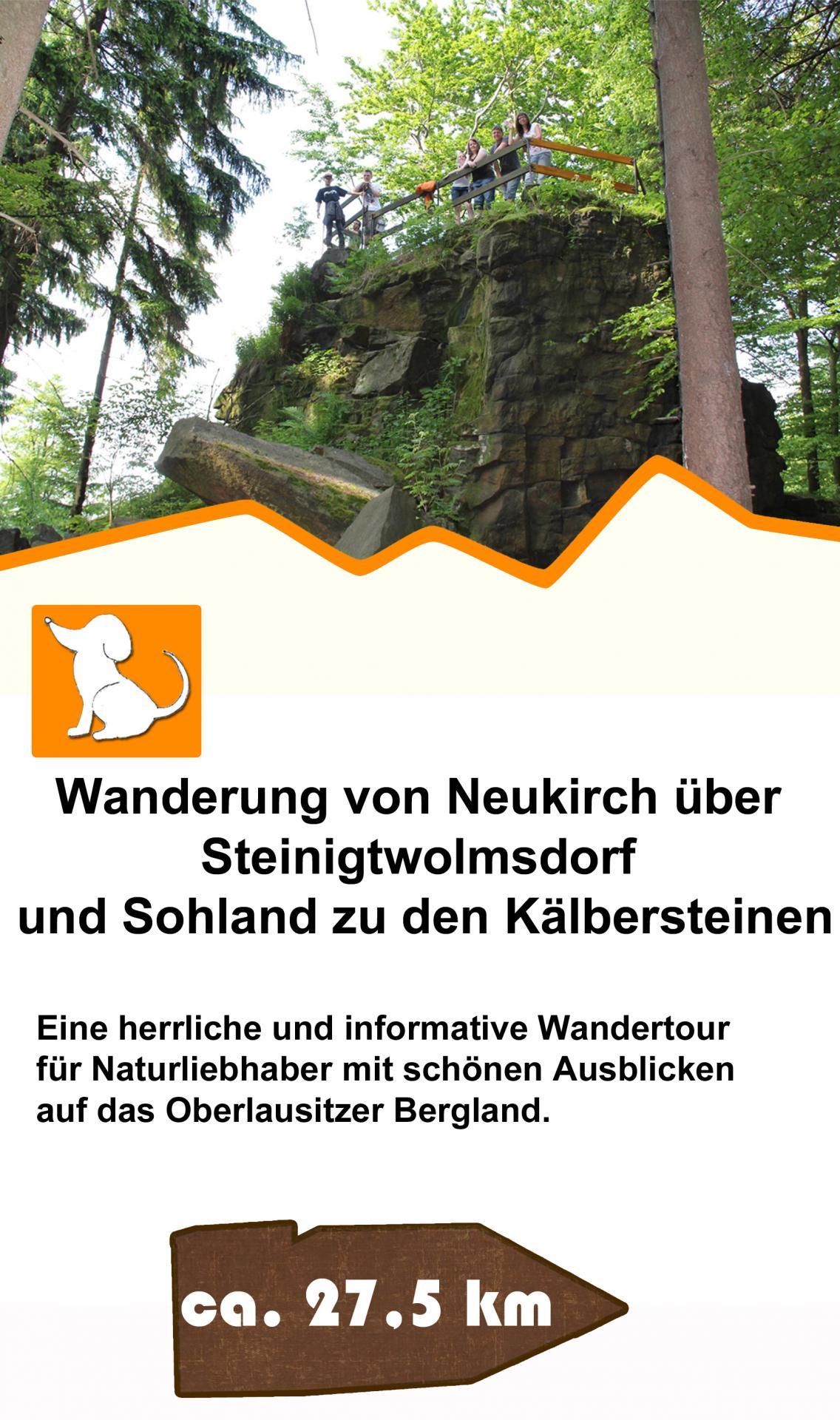 Wanderung Neukirch-Steinigtwolmsdorf-Sohland zu Kälbersteinen