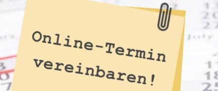 Online-Terminvereinbarung-Gelb