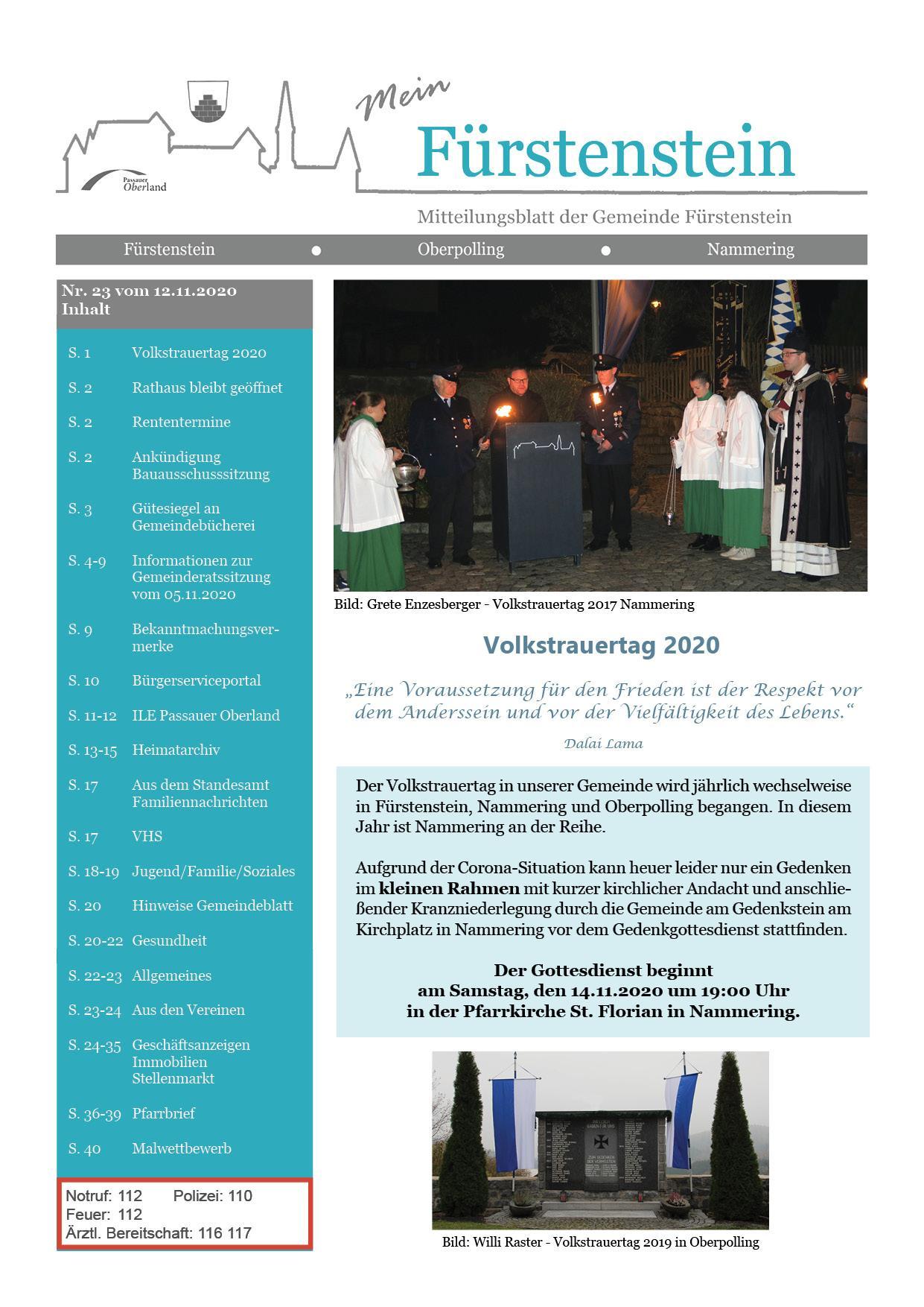 Titelblatt GB 23 2020