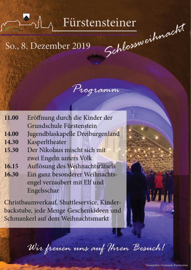 Plakat Schlossweihnacht