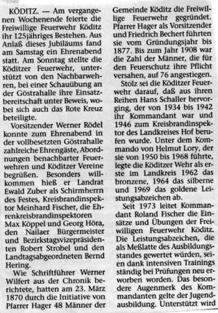 125 Jahre FF Köditz