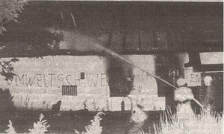 1986 rätselhafte Brandstiftung