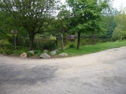 Radwegverlauf im Teichgebiet