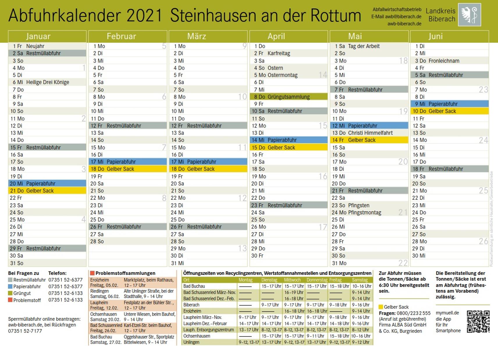 Müllkalender 2021