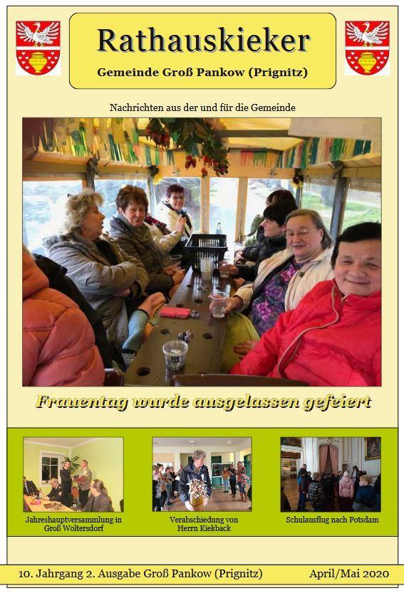 10.Jahrgang 2.Ausgabe Groß Pankow(Prignitz)   April/Mai 2020