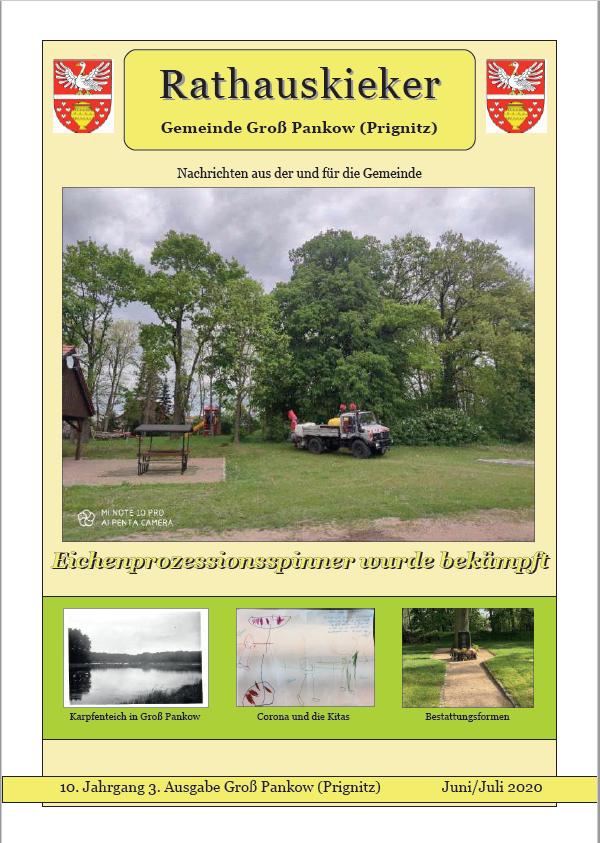 10. Jahrgang 3. Ausgabe Groß Pankow (Prignitz) Juni/Juli 2020