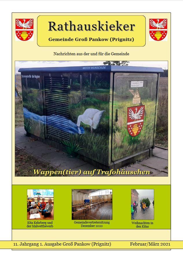 11. Jahrgang 1. Ausgabe Groß Pankow (Prignitz) Februar/März 2021