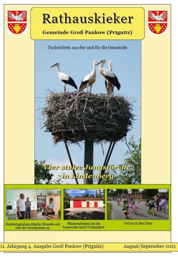 11.Jahrgang 4. Ausgabe Groß Pankow (Prignitz) August/September 2021