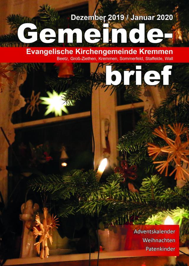 Gemeindebrief Dezember 2019 / Januar 2020