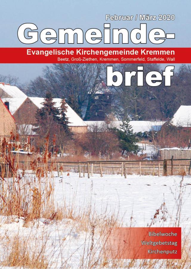 Gemeindebrief Februar / März 2020