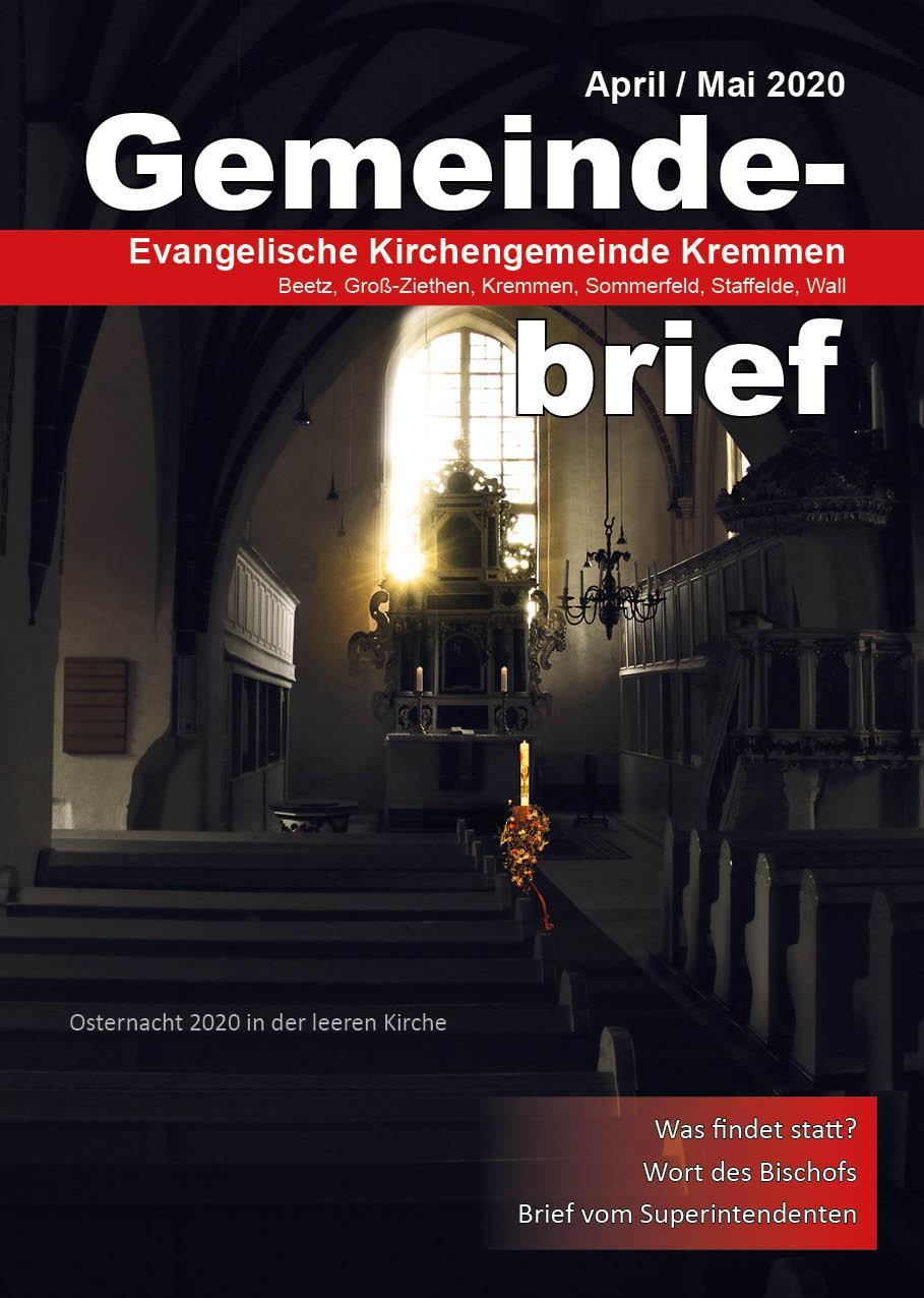 Gemeindebrief April / Mai 2020