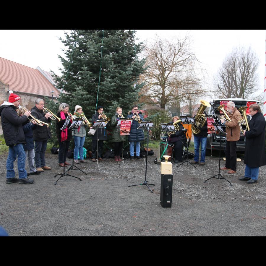 Posaunenchor am 22.12.19 auf dem Weihnachtsmarkt Kremmen