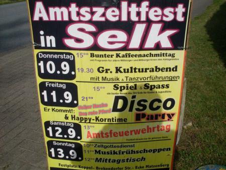 Plakat Amtszeltfest Selk 2009