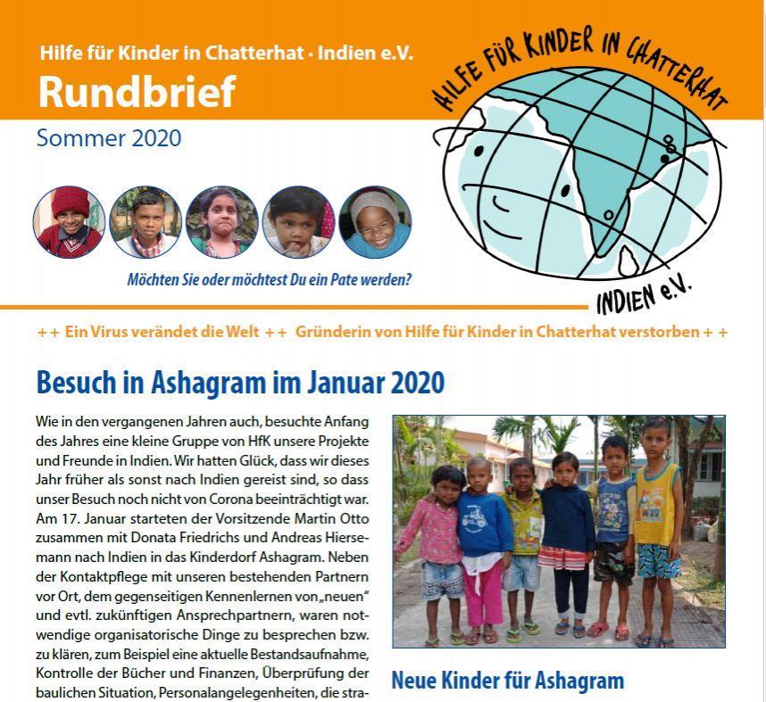 Rundbrief Sommer 2020