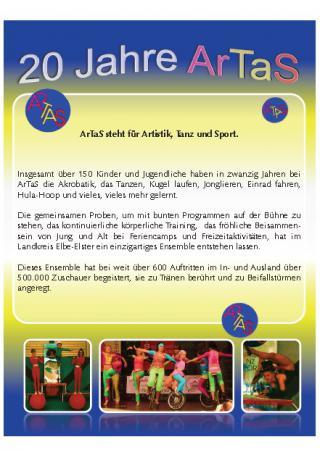 Flyer 20 Jahre ArTaS / Jubiläum 2013