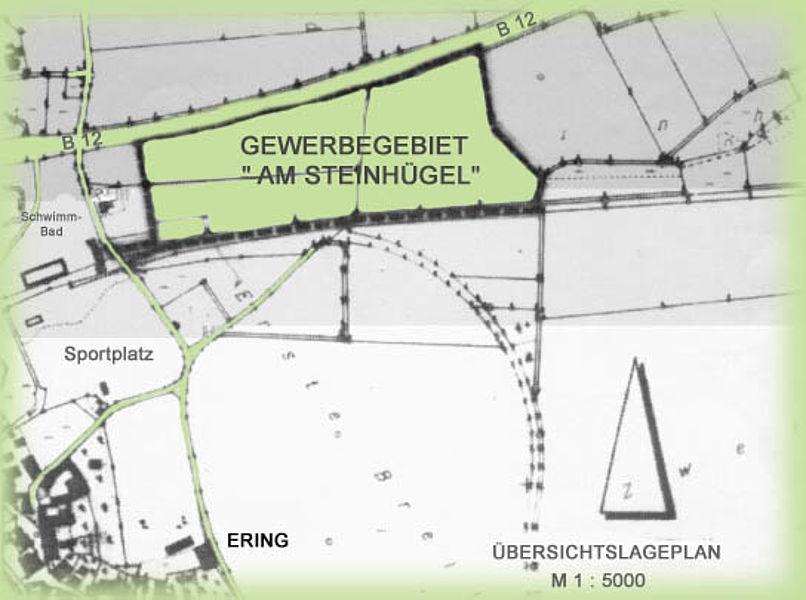 Gewerbegebiet am Steinhügel Plan
