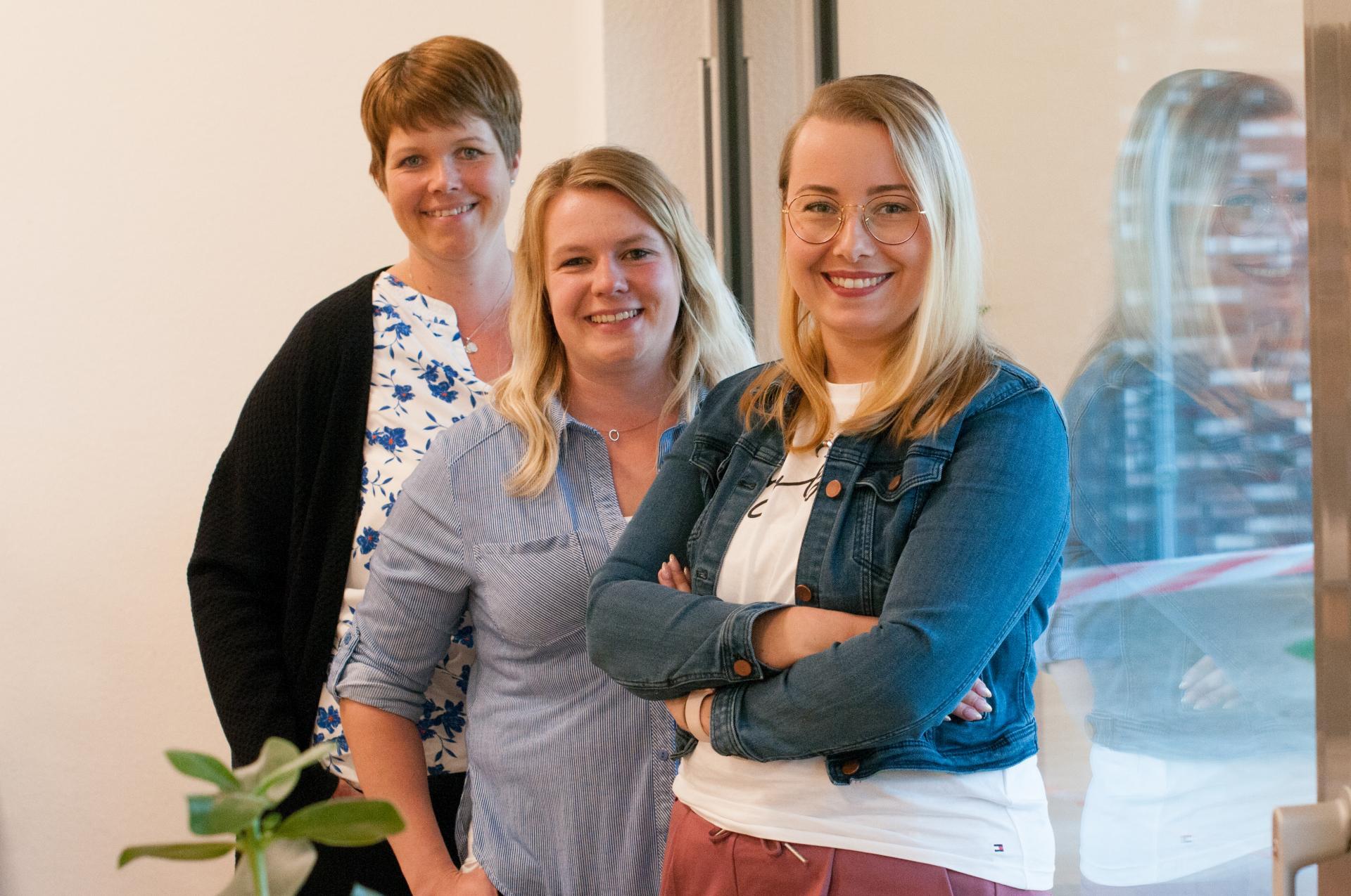 Ankergruppe,von hinten Nina Büter, Elke Wesselmann, Caroline Schulz