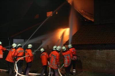 Scheunebrand in Harderode