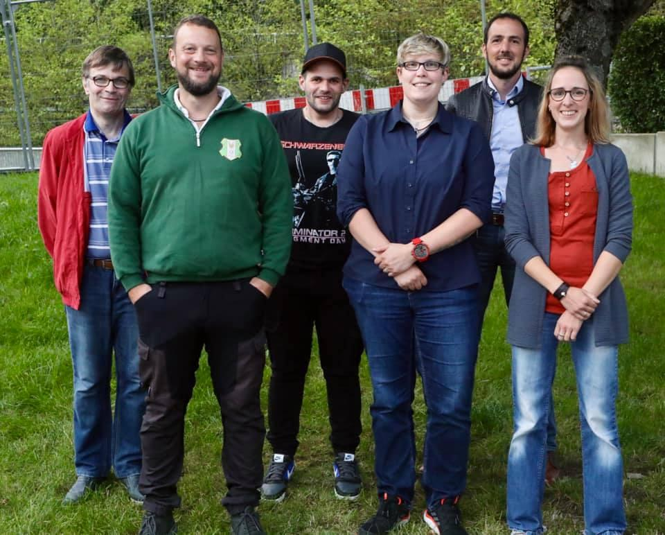 Vorstand FZM 2021, von links: Thomas Ronge, Daniel Selbach, David Schröck, Theresa Halbe, Patrick Grünewald, Karina Berges