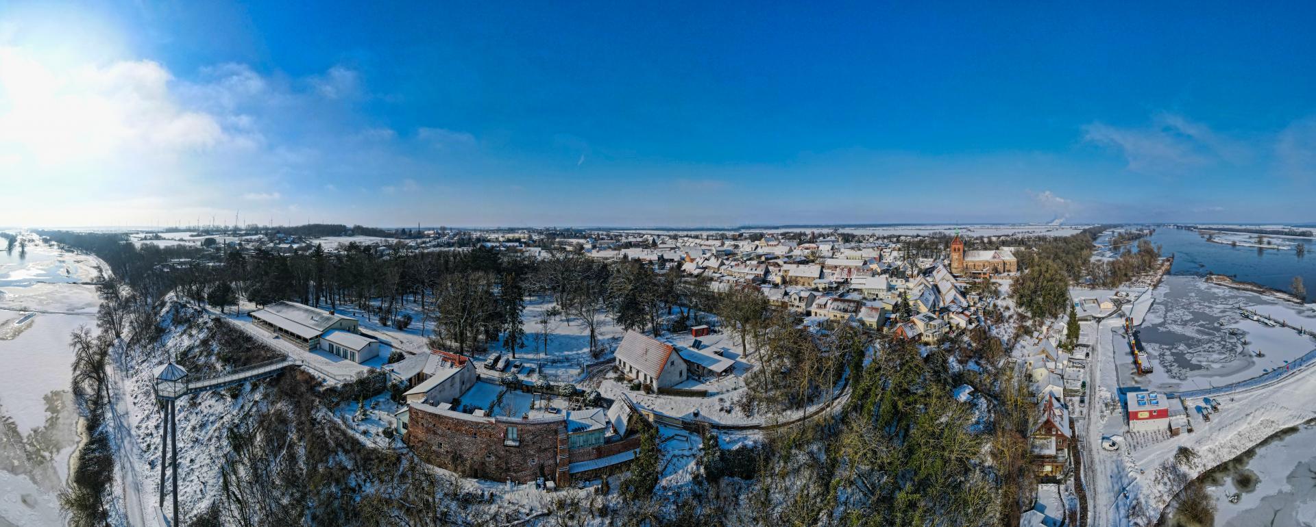 Winterlandschaft Arneburg