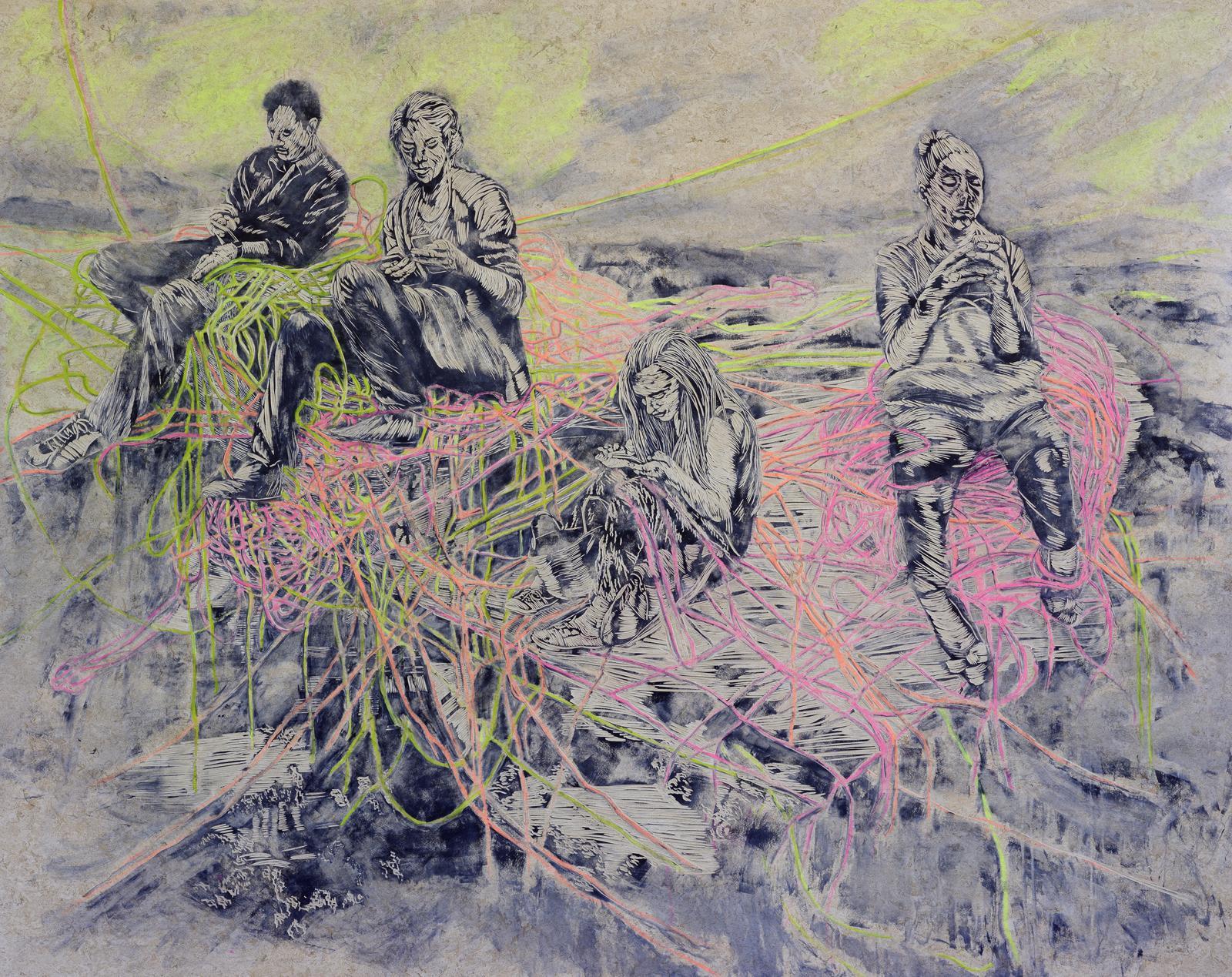 Quasselstrippen, 2016, 180 x 227 cm
