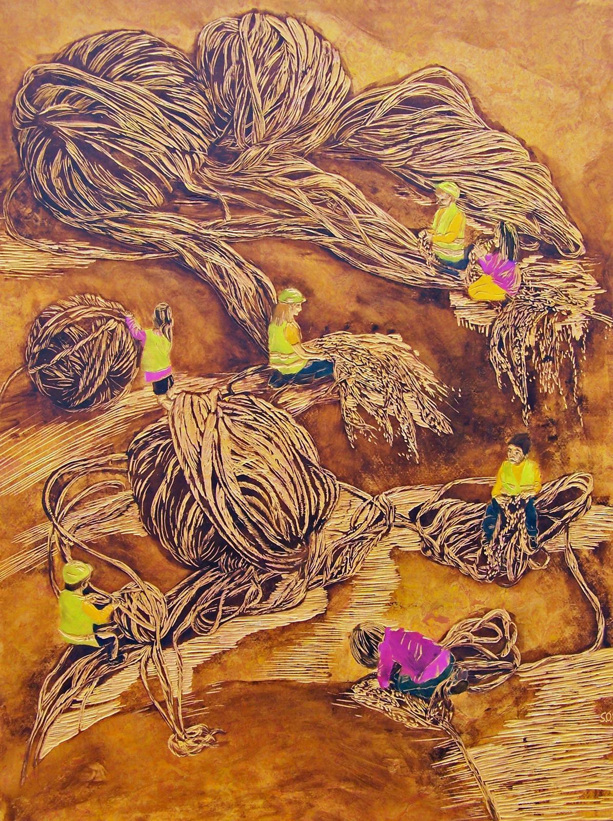 WOLLEn-müssen, 2014, 102 x 76 cm