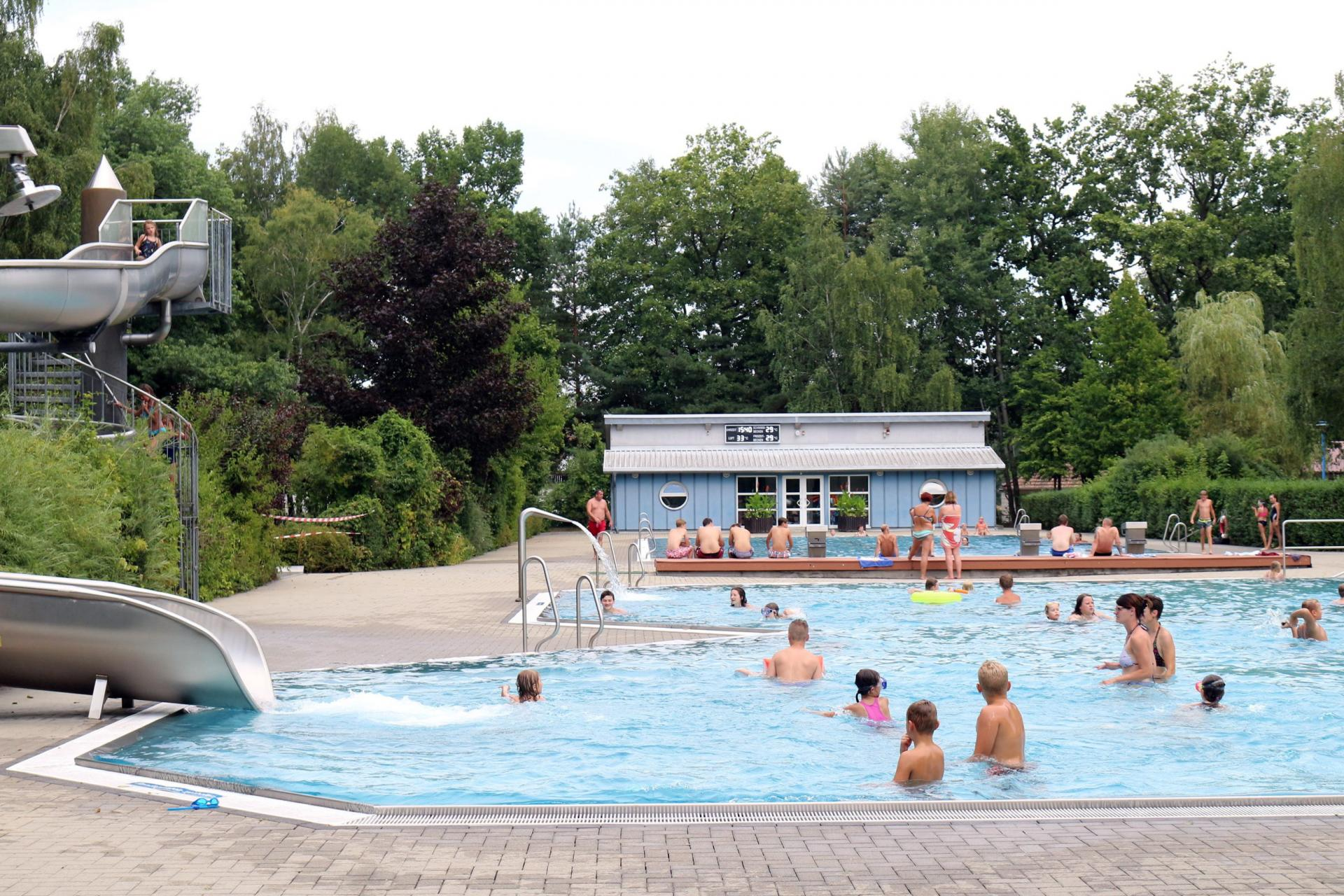 Blick in das Calauer Erlebnisbad in der Ziegelstraße. Foto: Stadt Calau / Jan Hornhauer