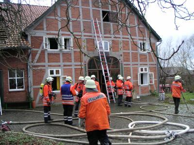 Wohnhausbrand Rohden