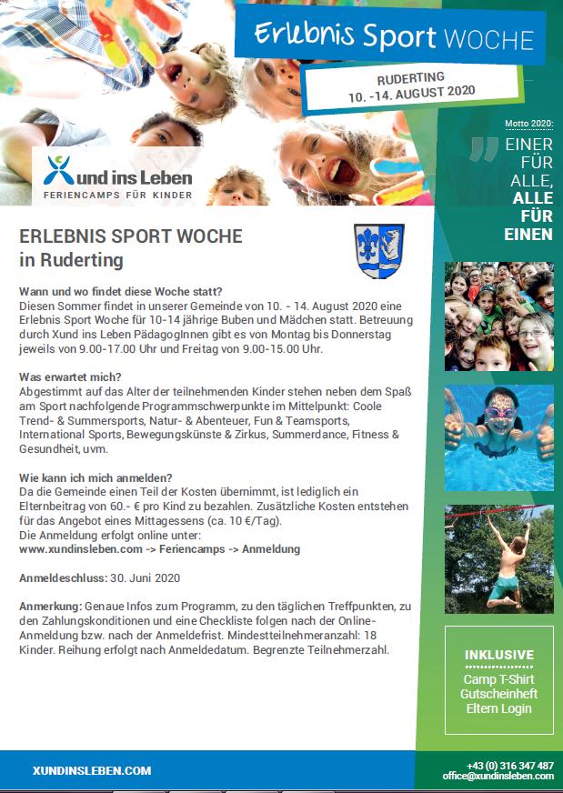 Sport-Erlebnis-Woche