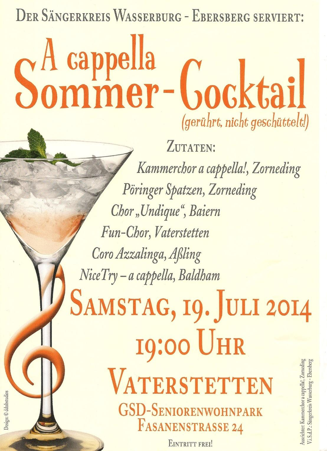 A cappella Sommer-Abend