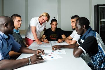 Besprechung Flüchtlinge
