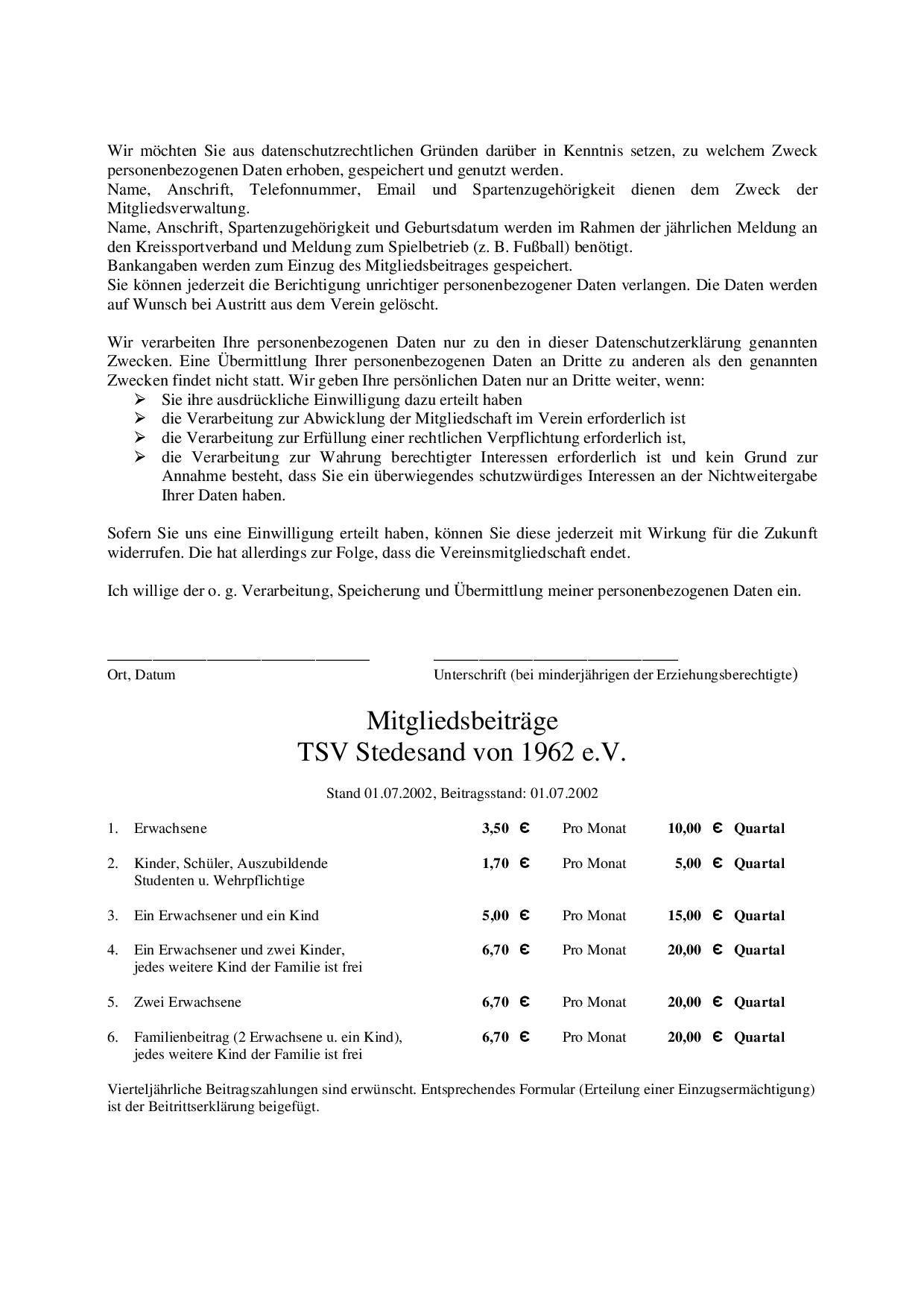 Beitrittsserklärung Seite 2
