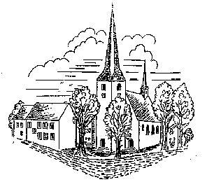 Zeichnung der Pfarrkirche Alflen