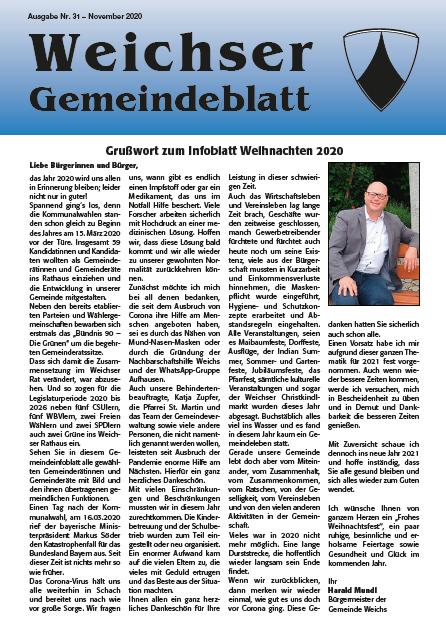 Informationsblatt November 2020