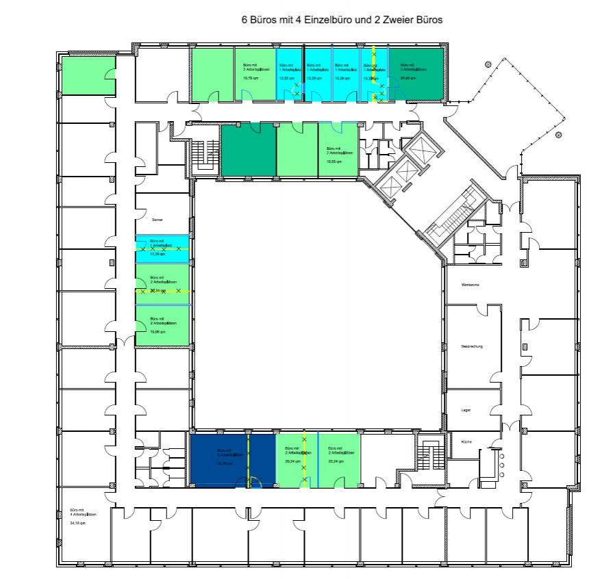 Verwaltung - Umbauvarianten