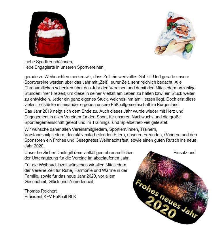Weihnachtsgruß des KFV