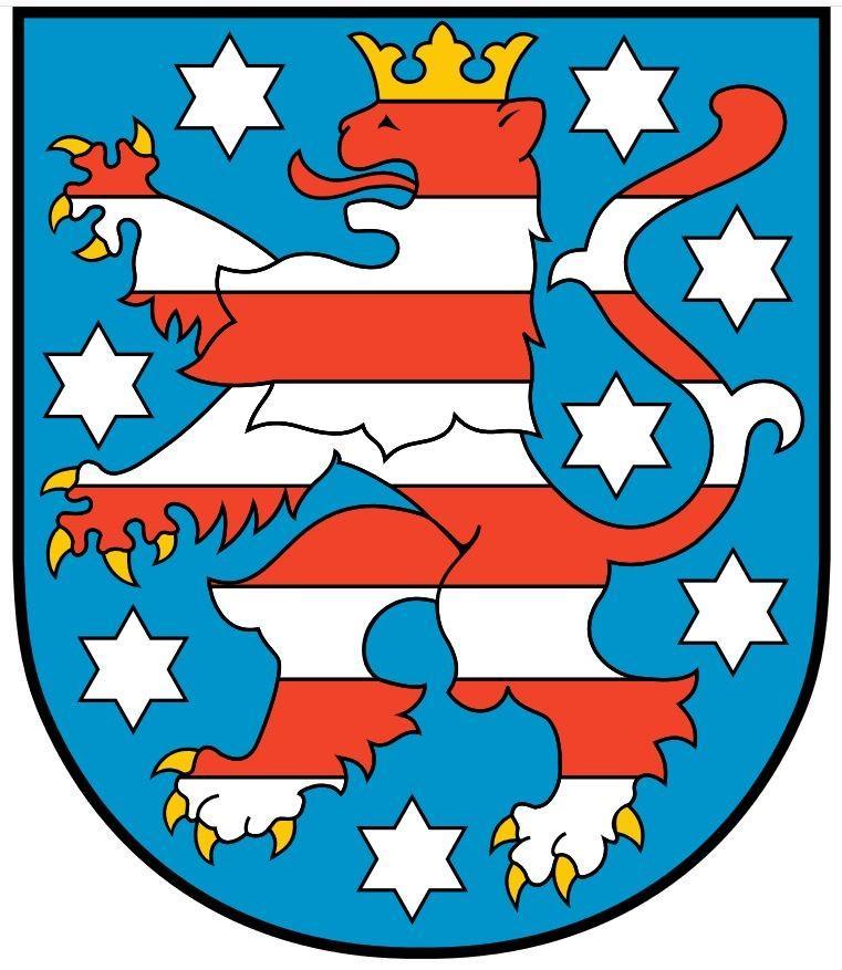 Wappen des Freistaats Thüringen