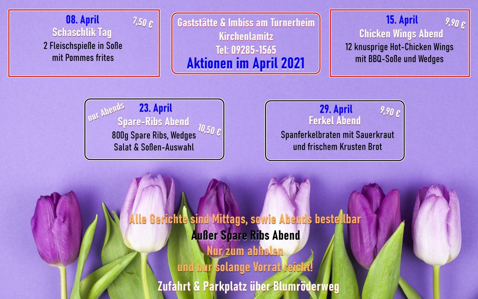 Aktionen im April