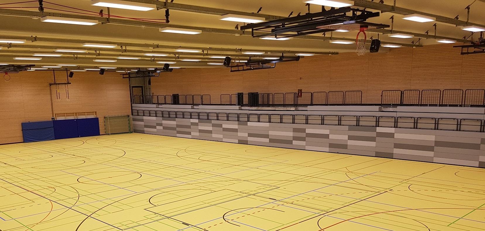 Sportstätte Römerhügel Halle 1 innen