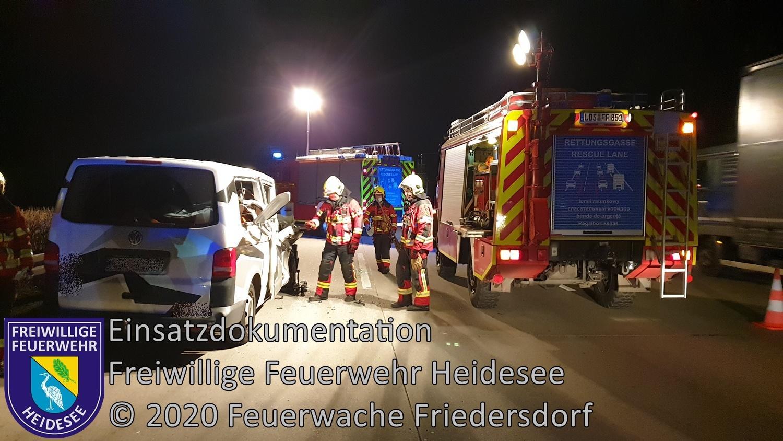 Einsatz 144/2020 | VU Transporter - LKW | BAB 10 AD Spreeau - AS Niederlehme | 16.11.2020