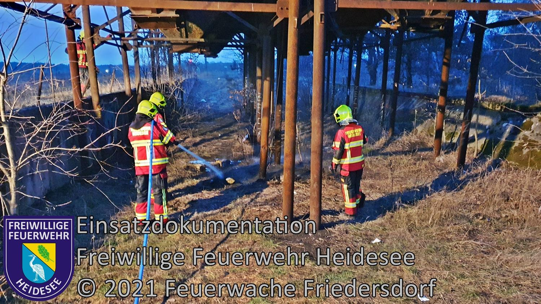 Einsatz 22/2021 | Ödlandbrand | Friedersdorf Bahnhof | 10.03.2021